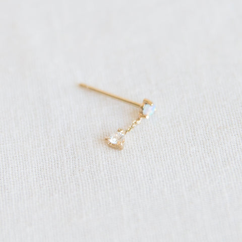 Two-Step Chain Earring