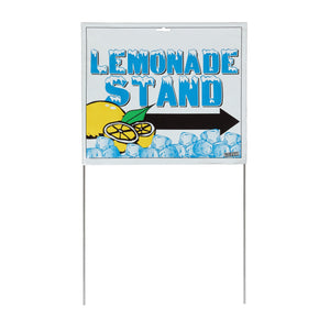 "14"" x 22"" Lemonade Stand Sign with Stakes"