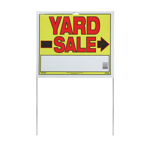 "14"" x 22"" Yard Sale Sign with Stakes"