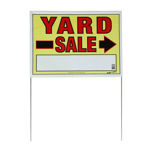 "22"" x 32"" Yard Sale Sign with Stakes"