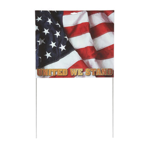 "14"" x 22"" Patriotic Sign with Stakes"