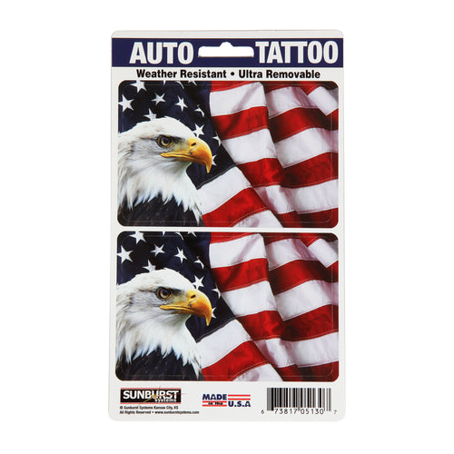 "5"" x 8.5"" Patriotic Auto Tattoo"