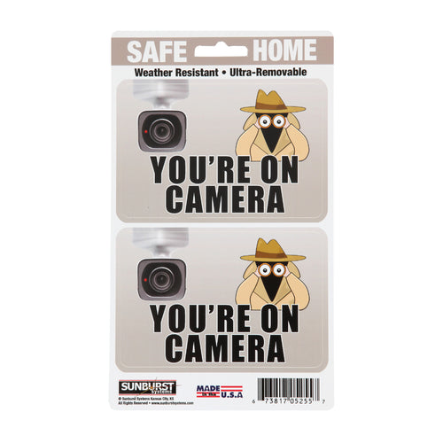 "5"" x 8.5"" You're On Camera Decals"