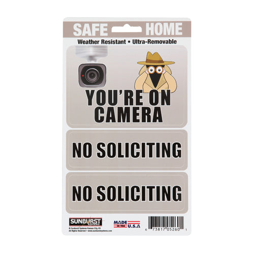 "5"" x 8.5"" Camera/No Soliciting Decals"