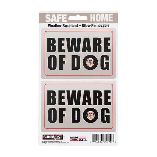 "5"" x 8.5"" Beware of Dog Decals"