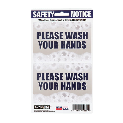 "5"" x 8.5"" Wash Hands Decals"