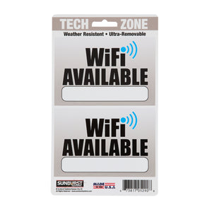 "5"" x 8.5"" WiFi Available Decals"