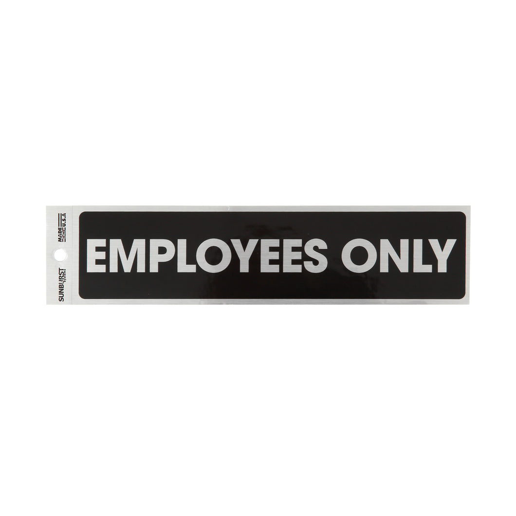 Employees Only Decal