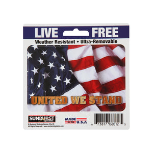 "5"" x 5"" Patriotic United We Stand Decal"