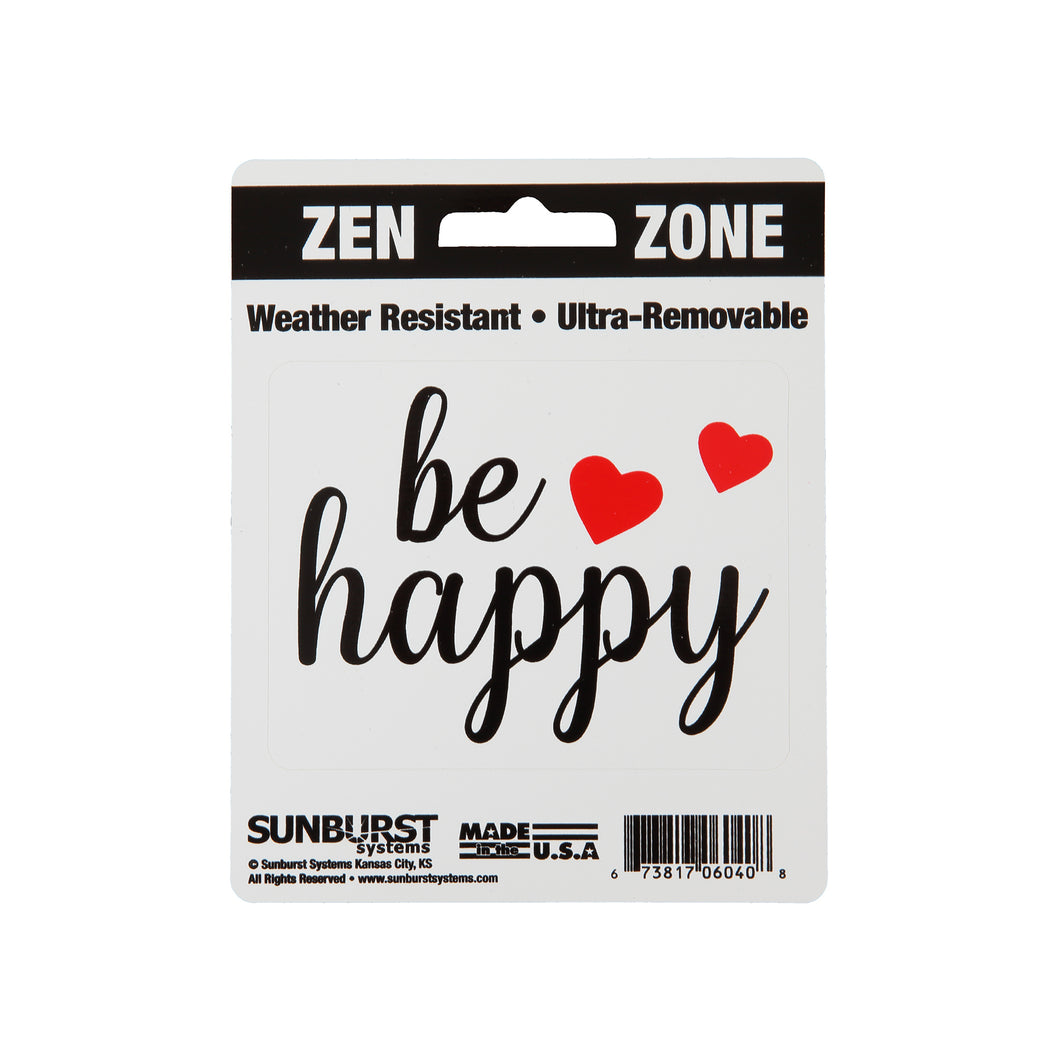 "4"" x 5"" Be Happy Decal"