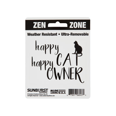 "4"" x 5"" Happy Cat Happy Owner Decal"