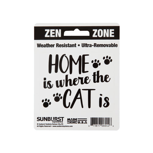 "4"" x 5"" Home is Where The Cat Is Decal"