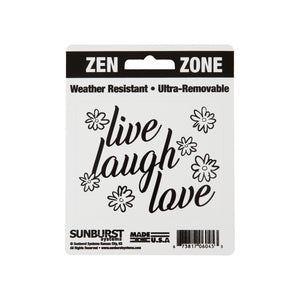 "4"" x 5"" Live, Laugh, Love Decal"