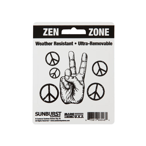 "4"" x 5"" Peace Hand Decal"