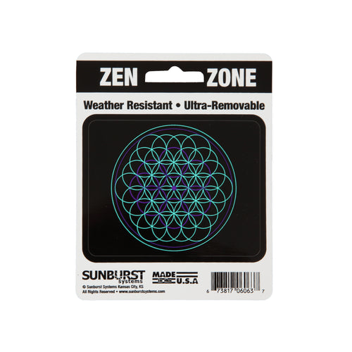 "4"" x 5"" Flower of Life Decal"
