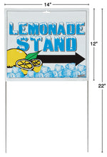 Dimensions of lemonade sign with stakes