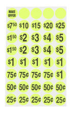 Yard Sale stickers, pricing stickers, Pre-priced labels, Kit