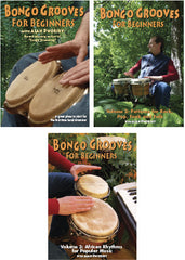 Bongo Grooves for Beginners DVDs, Volumes 1, 2, and 3