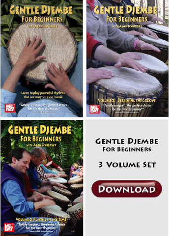 Download of Gentle Djembe DVD series: All 3 volumes as a package deal