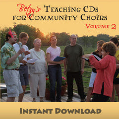 "Download of ""Teaching CDs for Community Choirs Volume 2"""