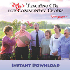 "Download of ""Teaching CDs for Community Choirs Volume 1"""