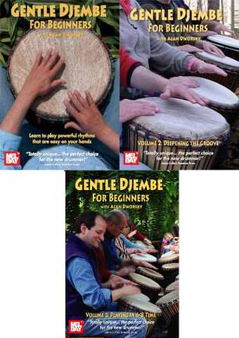 Gentle Djembe for Beginners: 3 DVD set