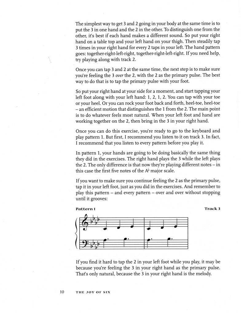 The Joy of Six for Piano (download of book as a PDF with mp3 audio