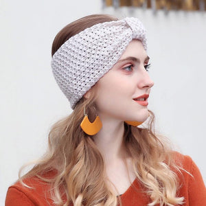 Soft Knitted Crochet Turban Headband - Everlyfave