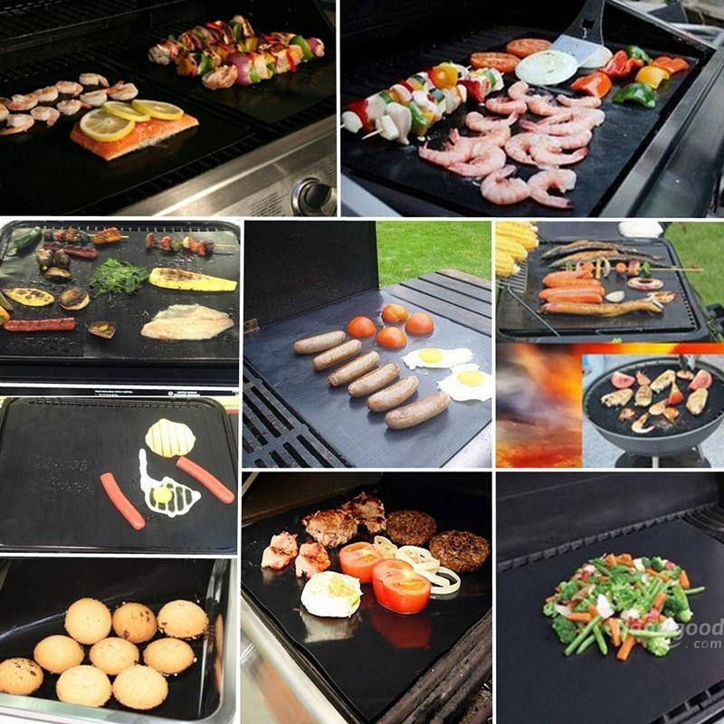 Double Sized Reusable BBQ Grill Mat 2pcs - Everlyfave