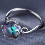 Fire Mystic Topaz Ring 925 Sterling Silver - Everlyfave