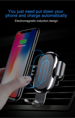 Wireless Charger Gravity Car Mount for Smartphone - Everlyfave