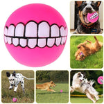 Funny Durable Dog Smile Rubber Ball - Everlyfave
