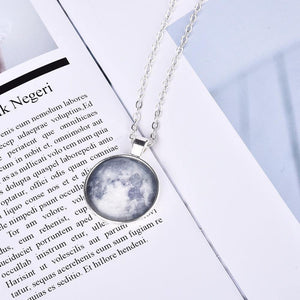 Glowing Galaxy Moon Pendant Necklace - Everlyfave