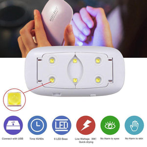 Mini Portable UV Lamp Nail Dryer - Everlyfave