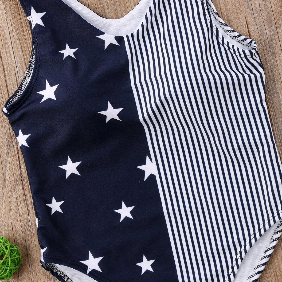 Mommy & Me Matching Navy Stars-Stripes Swimwear - Everlyfave