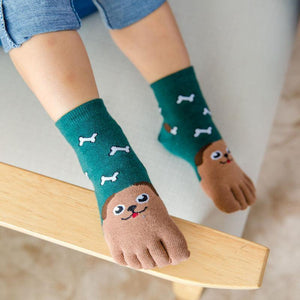 Cute Animal Children Five Fingers Socks - Everlyfave