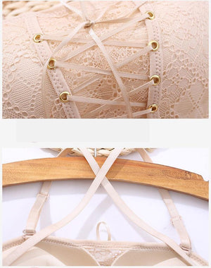 Drawstrings Push Up Lace Bra - Everlyfave