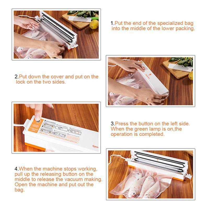 Food Vacuum Sealer + 15Pcs Bags - Everlyfave