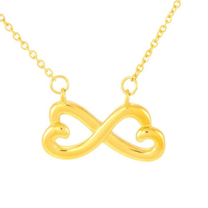 "To My Wife ""Heart To Heart"" Infinity Hearts Necklace - Everlyfave"