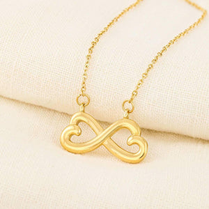 "To My Daughter ""Mother And Daughter"" Infinity Hearts Necklace - Everlyfave"