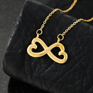 "To My Daughter ""Together Forever"" Infinity Hearts Necklace - Everlyfave"