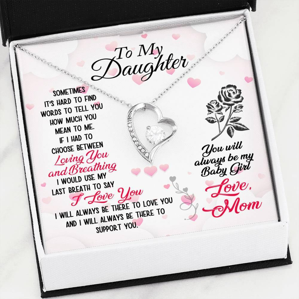 "To My Daughter ""Loving You"" Forever Love Necklace - Everlyfave"