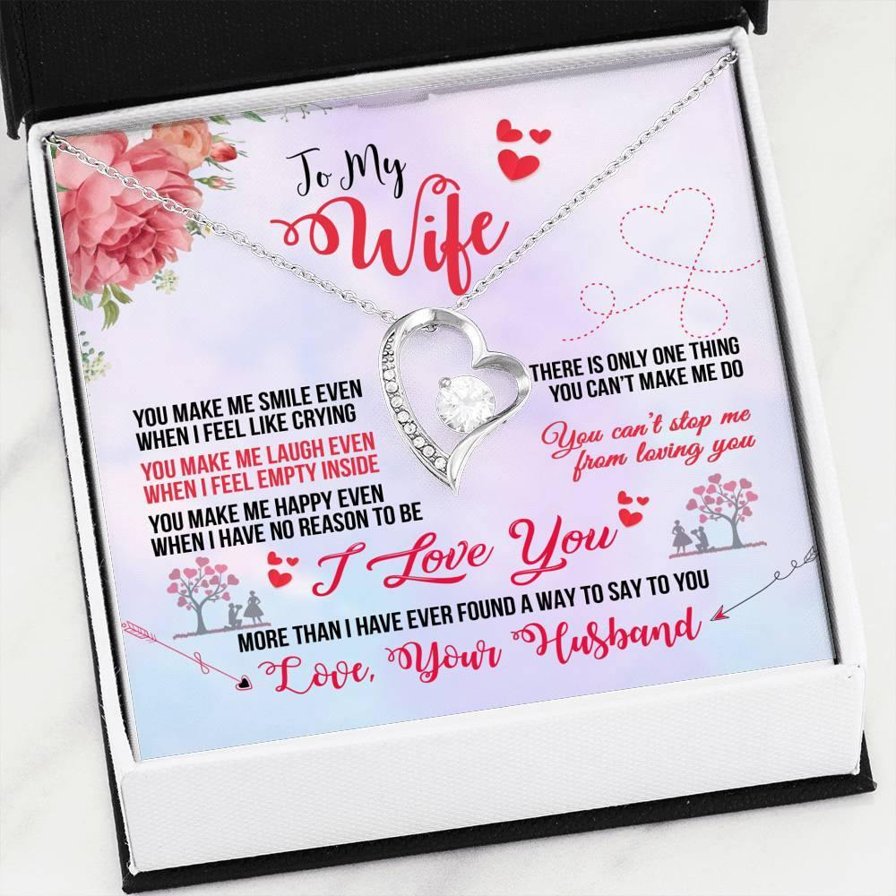 "To My Wife ""You Make Me Smile"" Forever Love Necklace - Everlyfave"