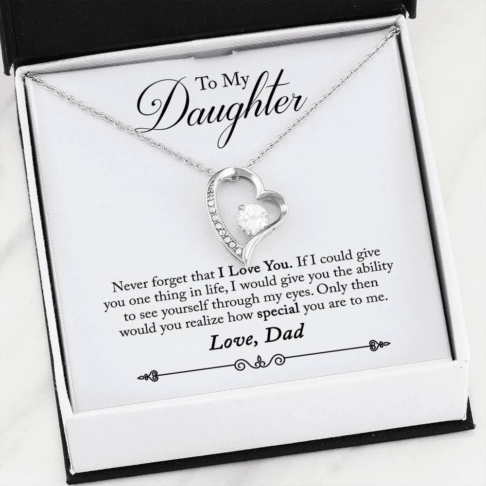 "To My Daughter ""One Thing"" Forever Love Necklace (From Dad) - Everlyfave"