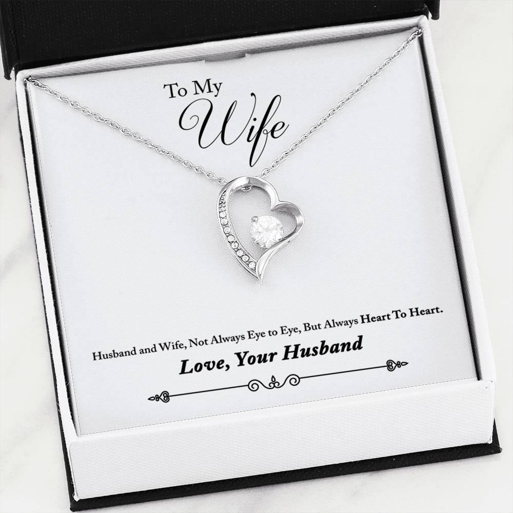 "To My Wife ""Heart To Heart"" Forever Love Necklace - Everlyfave"