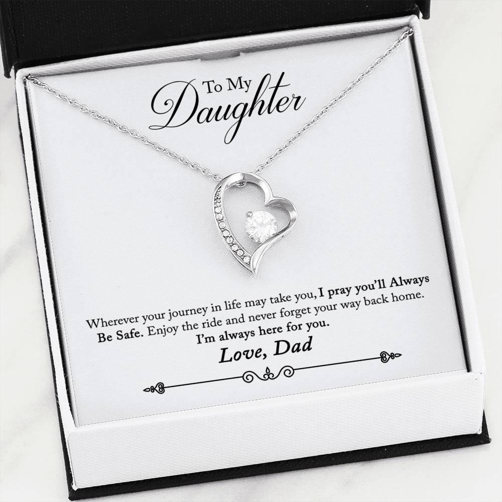 "To My Daughter ""Way Back Home"" Forever Love Necklace (From Dad) - Everlyfave"
