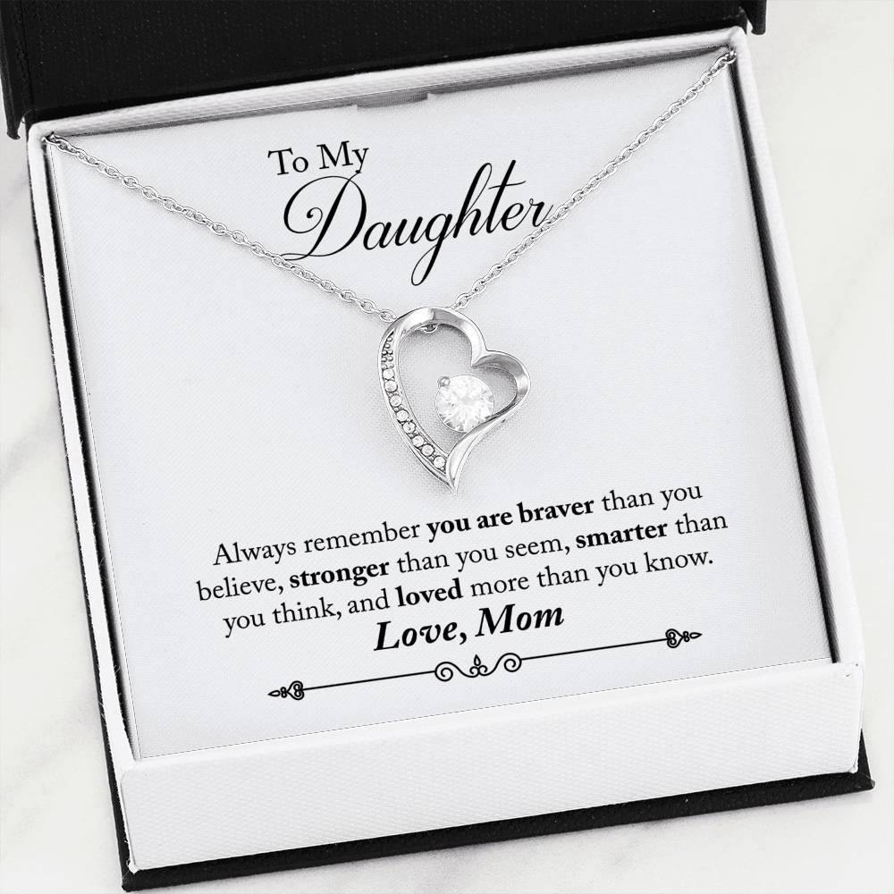 "To My Daughter ""Always Remember"" Forever Love Necklace - Everlyfave"
