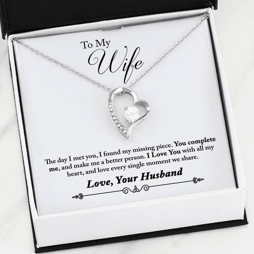 "To My Wife ""You Complete Me"" Forever Love Necklace - Everlyfave"