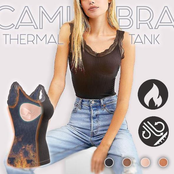 Cami-Bra Thermal Lace Tank - Everlyfave