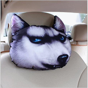 Car 3D Animal Headrest Neck Pillow - Everlyfave